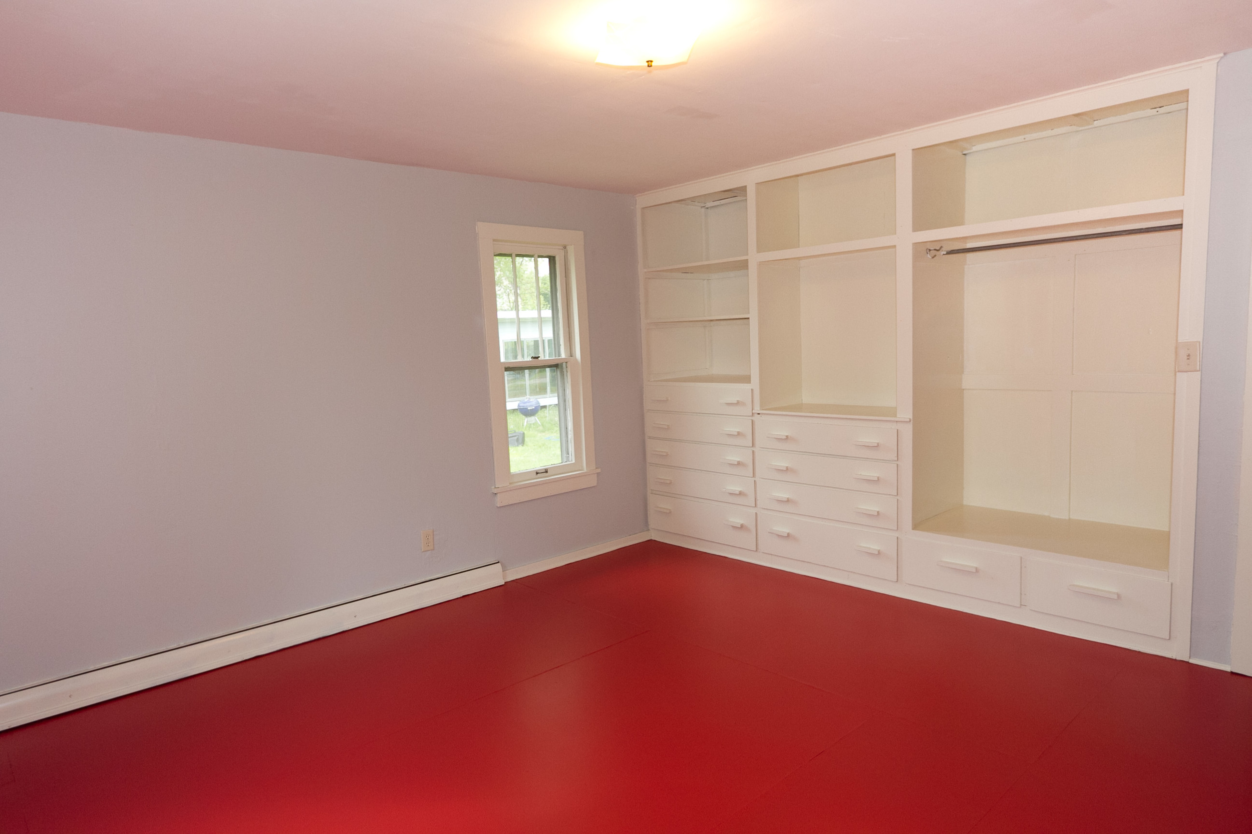 Master bedroom, after staging (no furniture, but huge improvement in the fresh paint!)