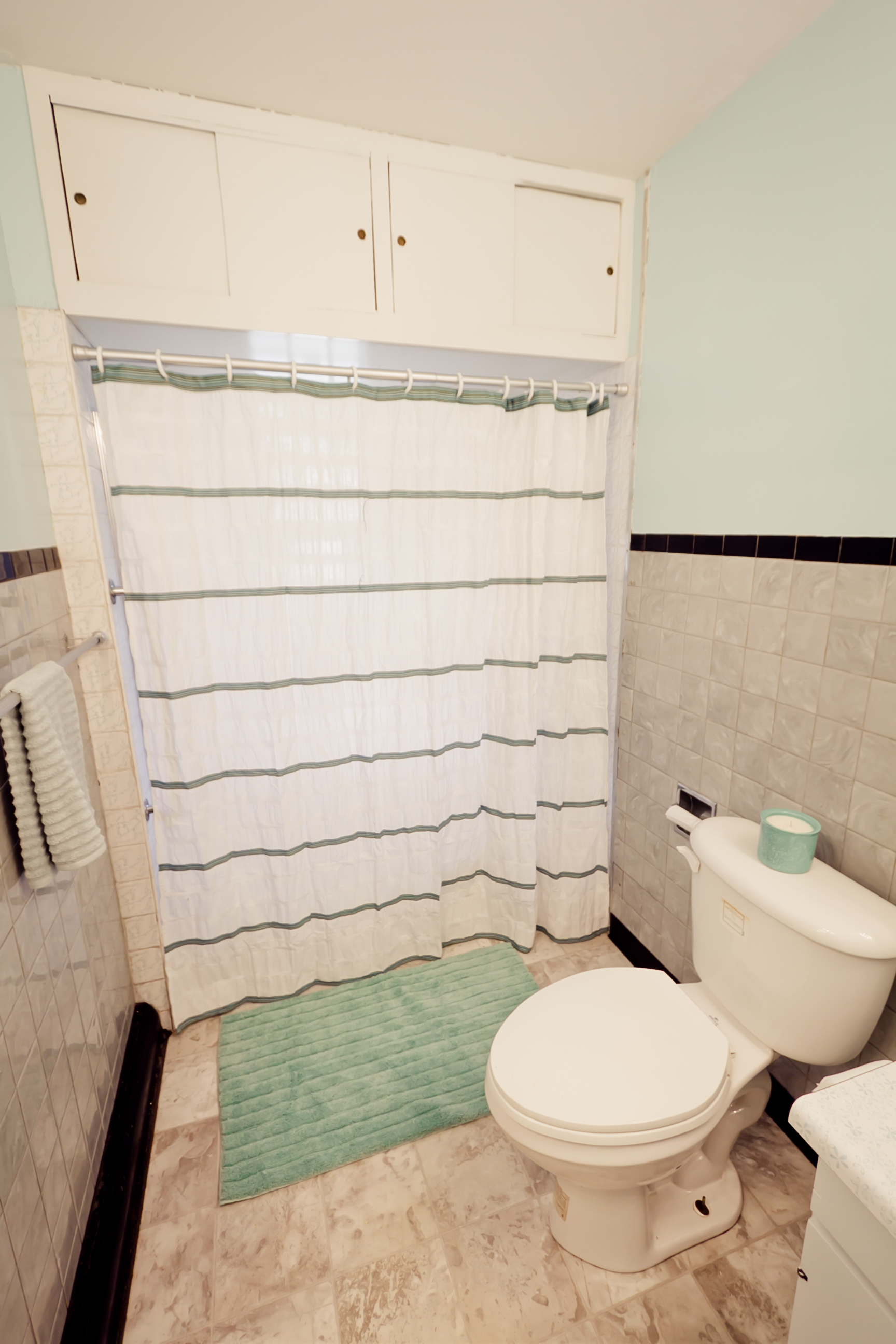 Bathroom, after being staged for sale