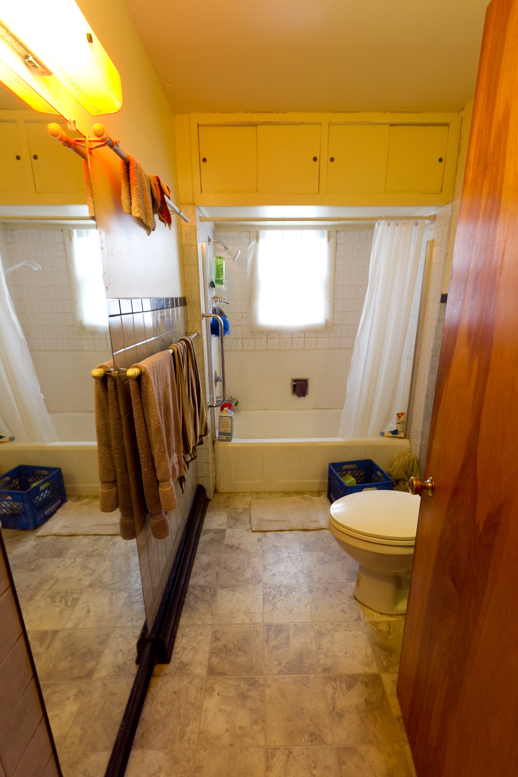 Bathroom, before being staged for sale