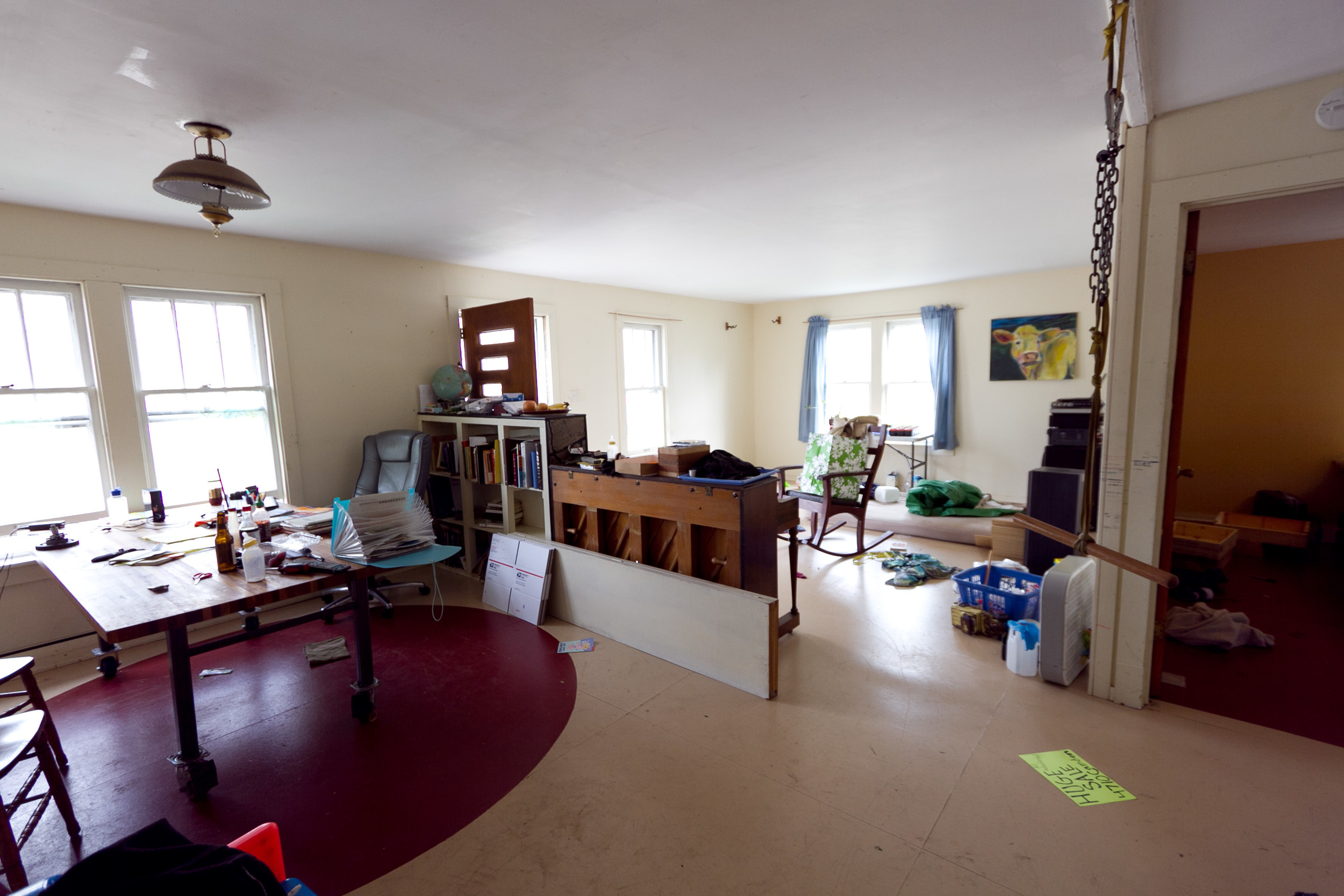 Living room, before staging