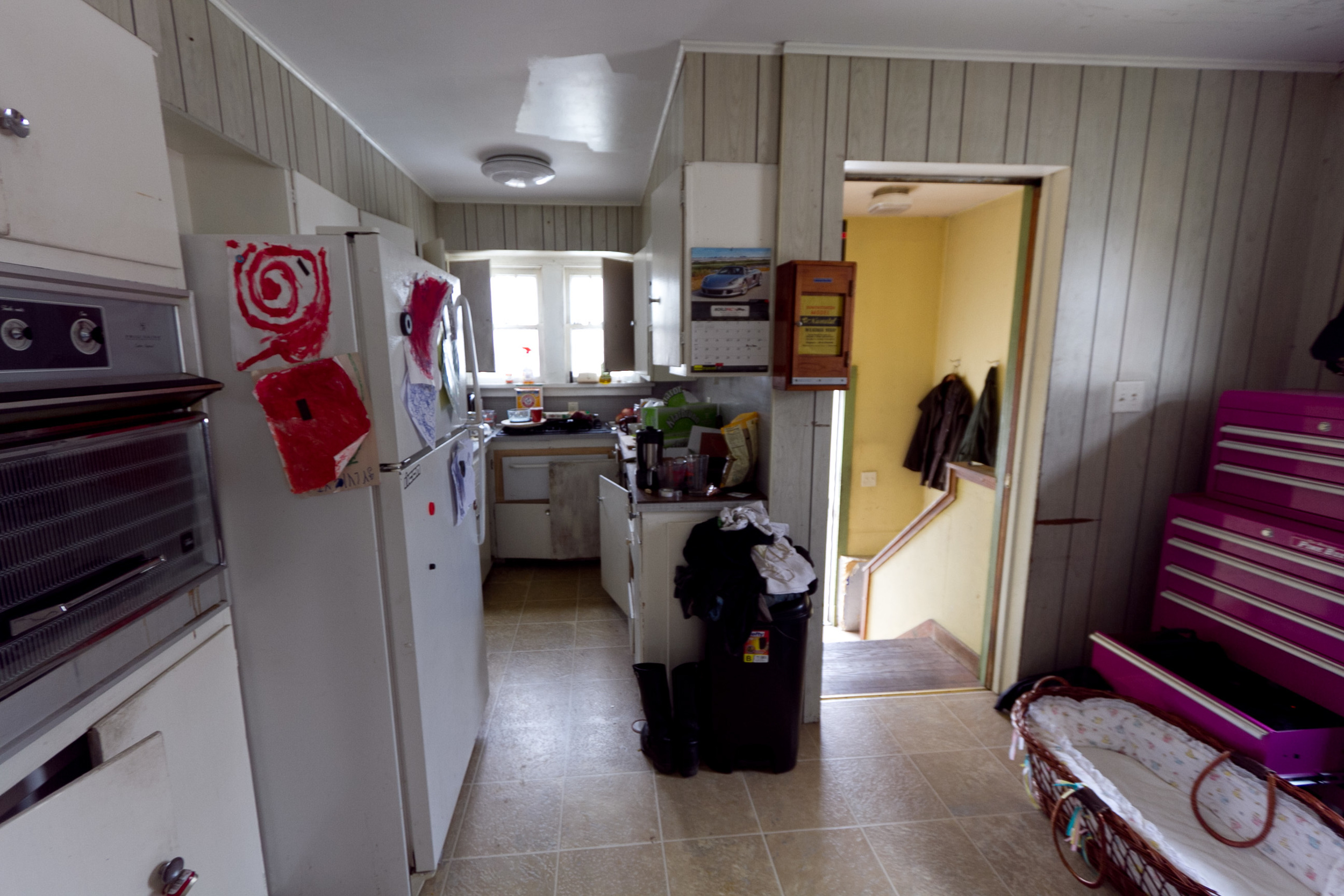 Kitchen, before being staged for sale