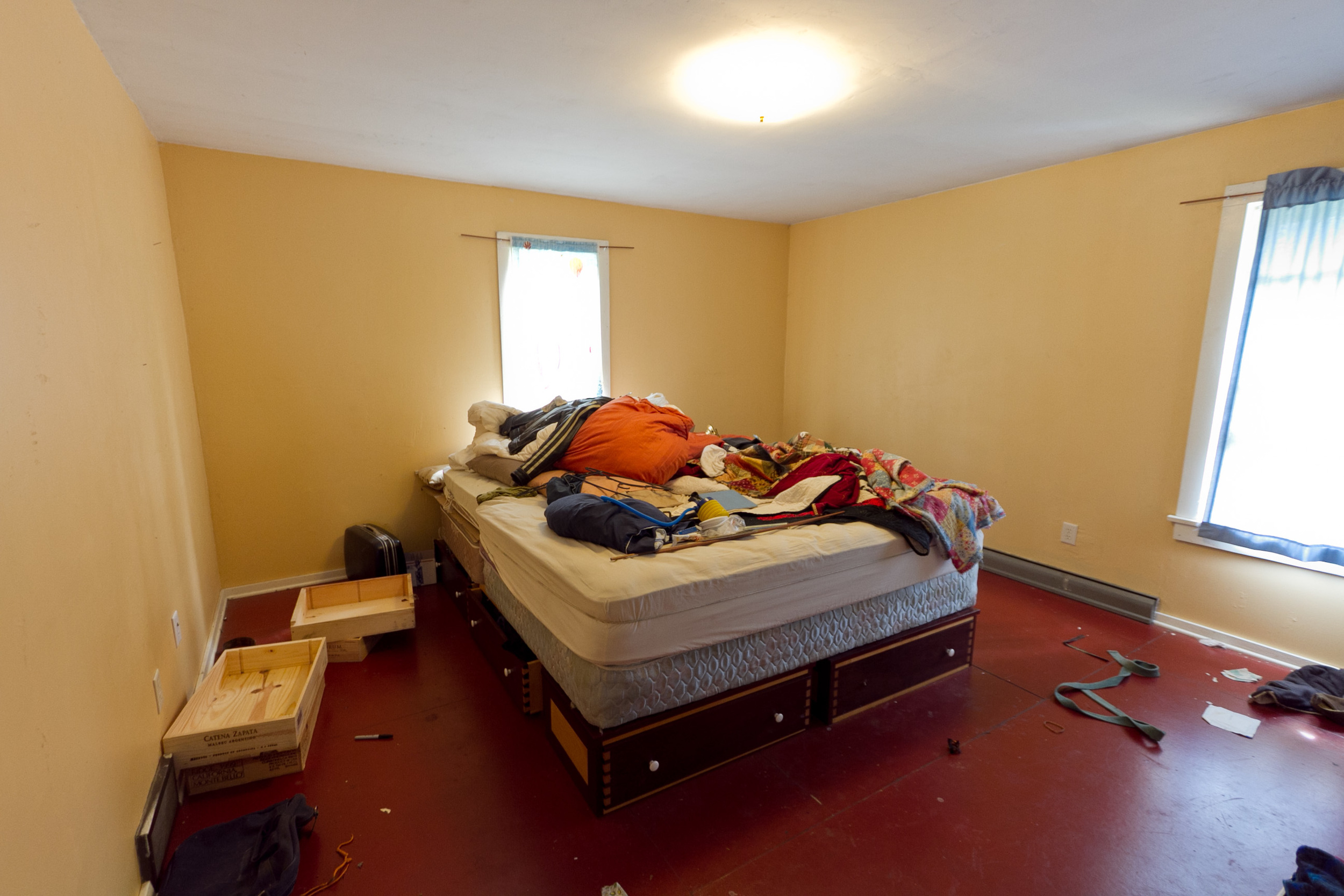Master bedroom, before being staged for sale