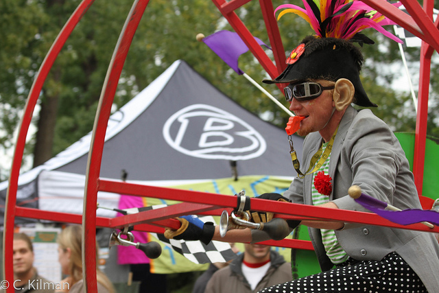 A performer in the Willy Street Parade, 2010
