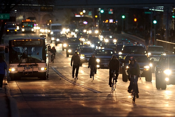 Busy traffic along University Ave. points to the need to improve street safety