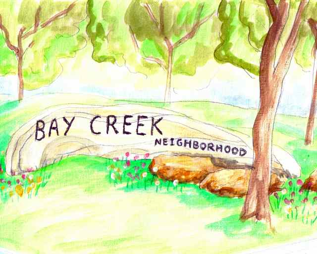Bay Creek, Madison WI welcome sign