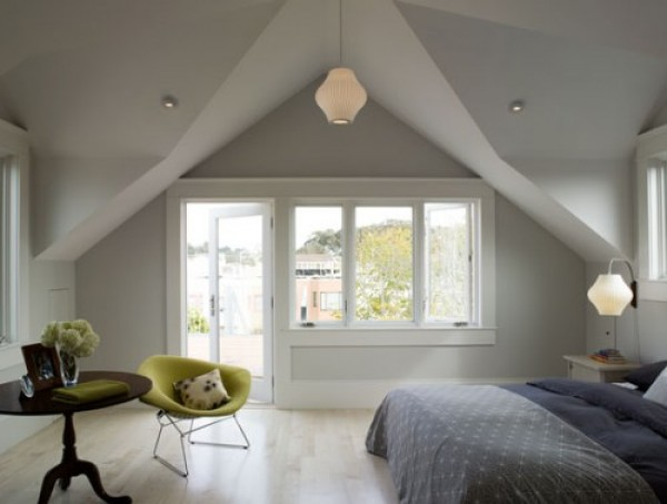 Converting your attic into a bedroom, as shown here, is a cost-effective way to increase your home's square footage and an upgrade that has long-lasting effect on your home's value.