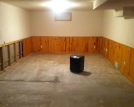 Basement before home staging, Madison WI real estate