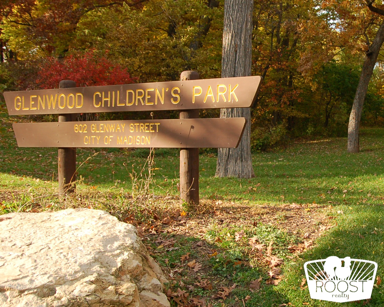 Glenwood Children's Park sign in the Dudgeon Monroe neighborhood.