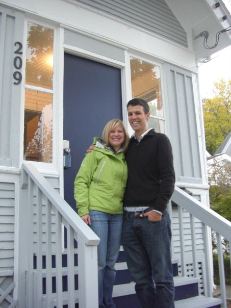 Photo of happy Roost Realty home buyers in Madison, Wisconsin