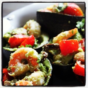 Shrimp-Stuffed Avocado