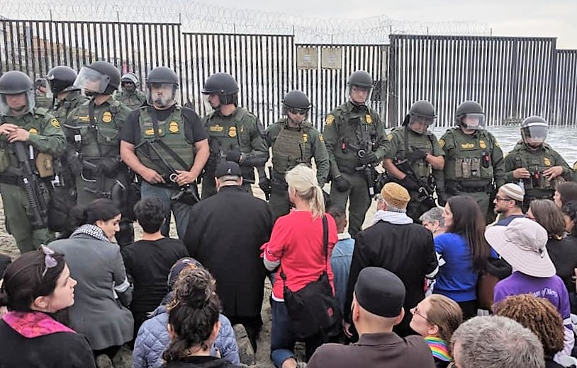 Taeb recently went back to southern California's border crossing for the first time since she first stepped foot on U.S. soil. This time she went with a group of faith leaders to protest recent efforts to turn asylum seekers away.