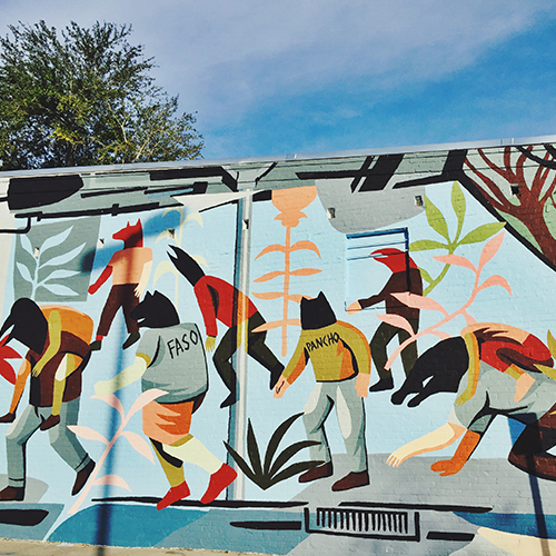JAZ (Franco Fasoli) Mural, Downtown Gainesville - courtesy  BUDA