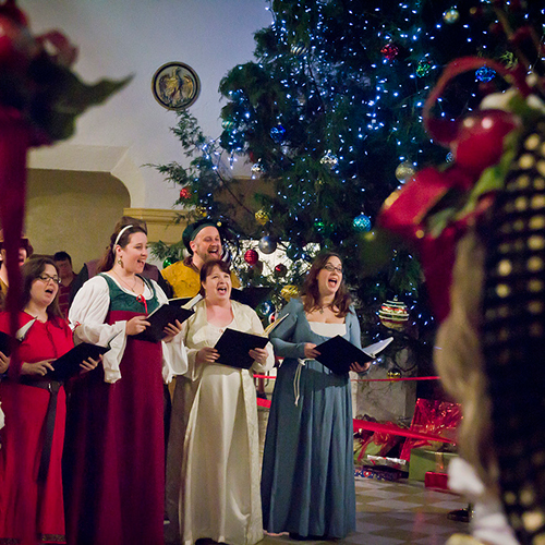 Holiday Tree Lighting & Carollers at the Thomas Center, courtesy Sean Plemmons