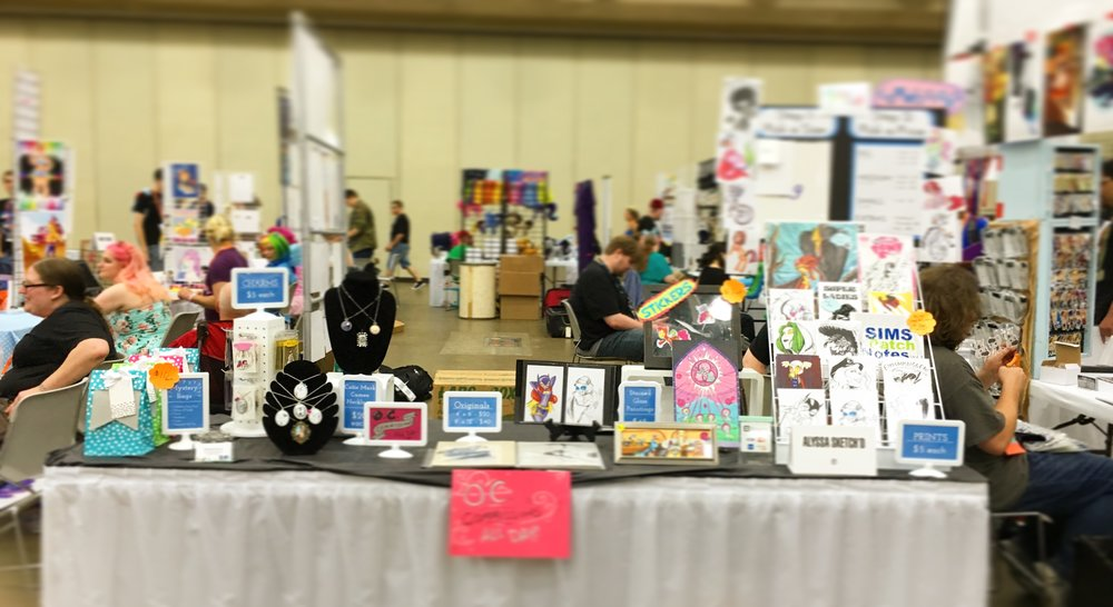 BronyCon 2016 Table Setup