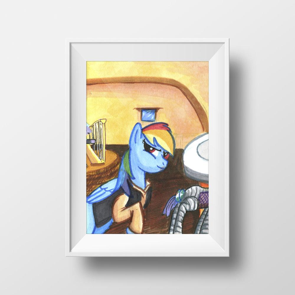 "Ponies in Mos Eisley Trading Card Set, Pt 2 - 2.5"" x 3.5"""