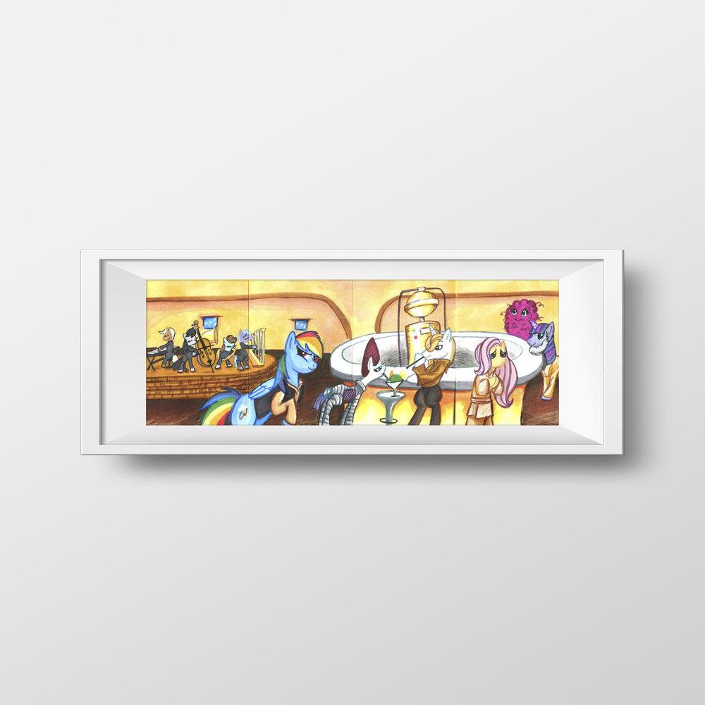 "Ponies in Mos Eisley Trading Card Set - 3.5"" x 10"""