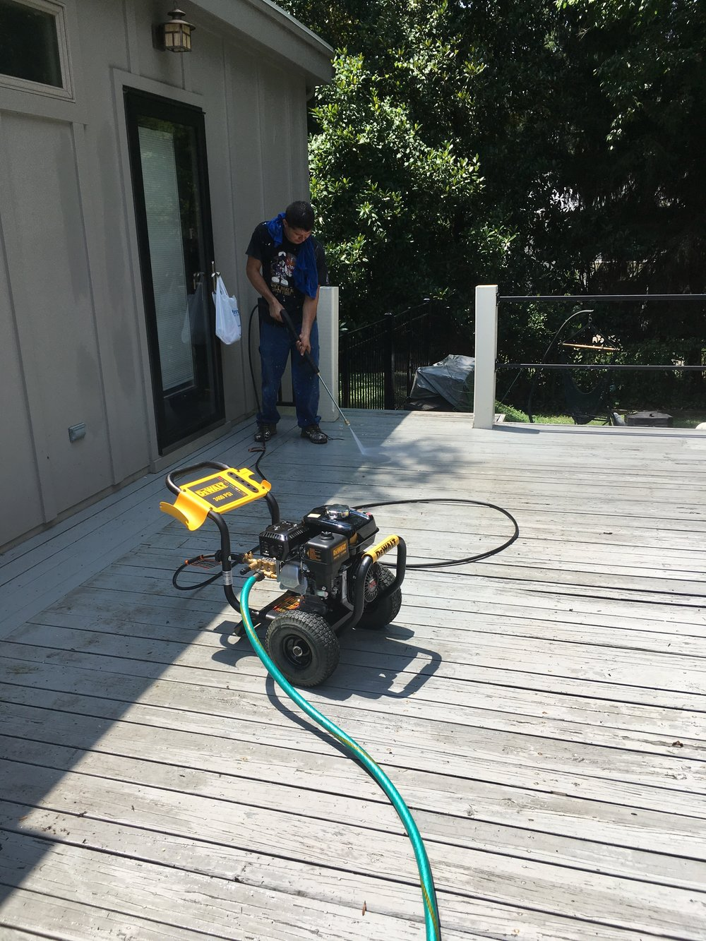 power washing deck painting mr installation pro