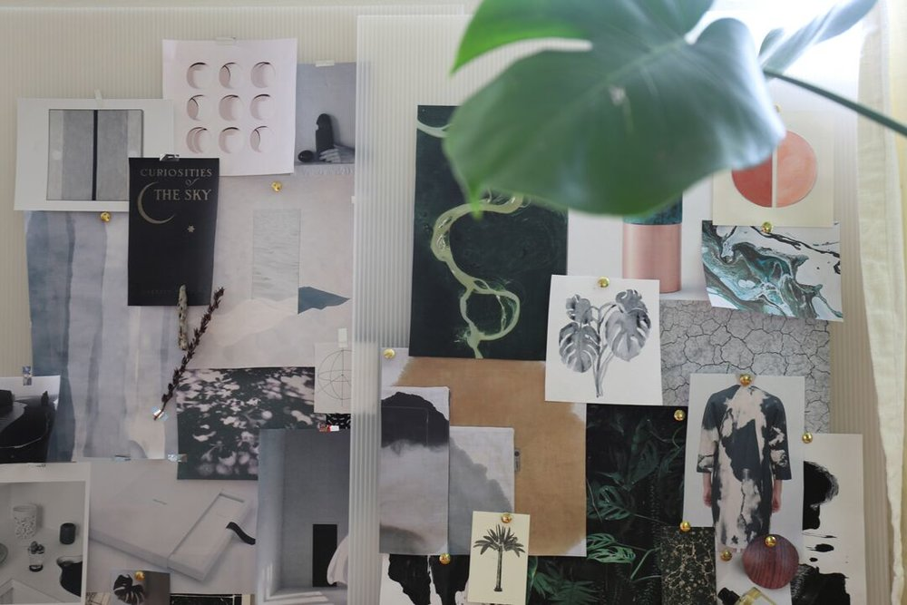 Kimi Lewis' workspace in her Los Angeles studio  (photo: Sheewa Salehi)