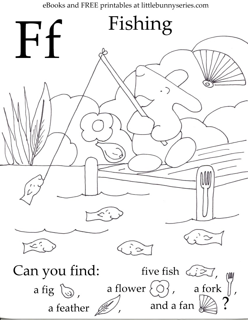Letter F Seek and Find PDF