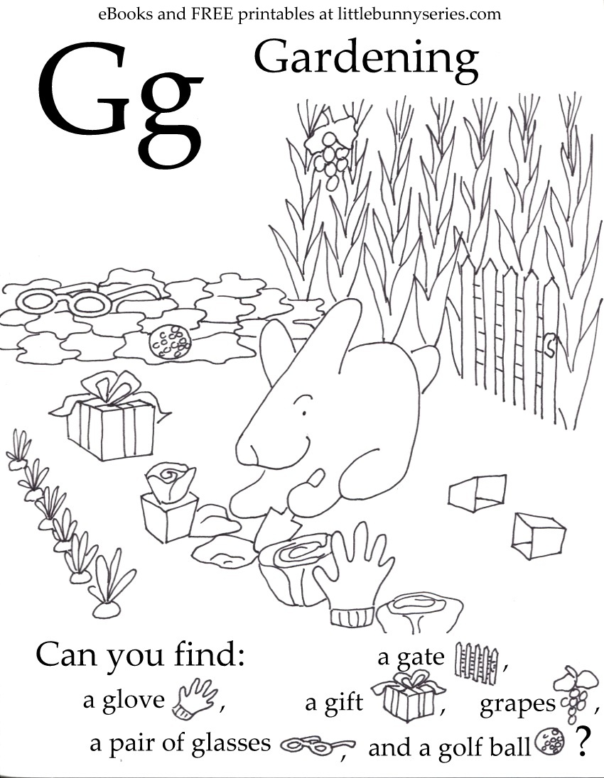 Letter G Seek and Find PDF