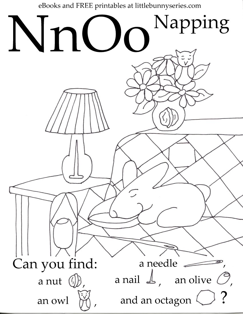Letters N, O Seek and Find PDF