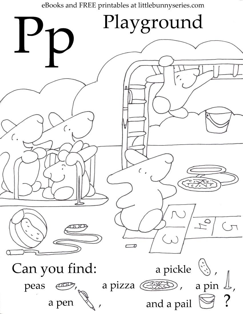 Letter P Seek and Find PDF