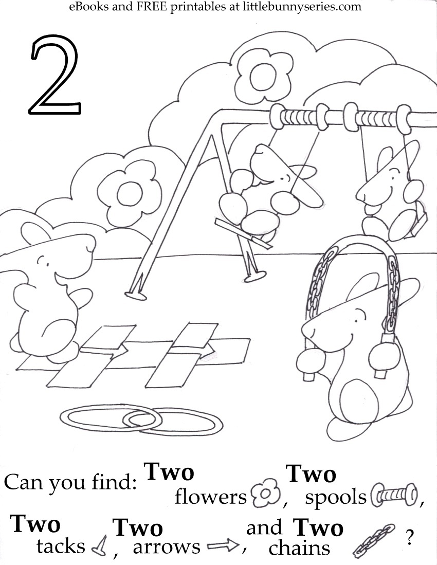 Number 2 Seek and Find PDF