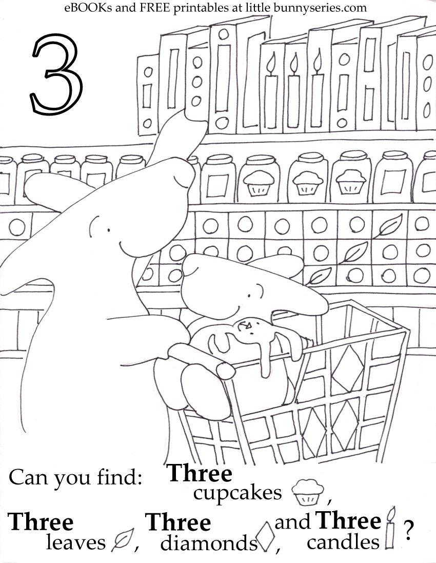 Number 3 Seek and Find PDF
