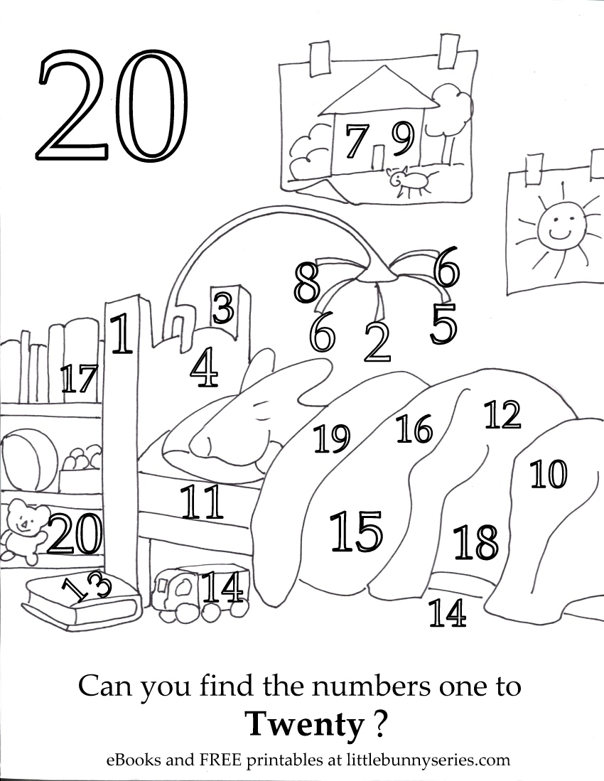 Number 20 Seek and Find PDF