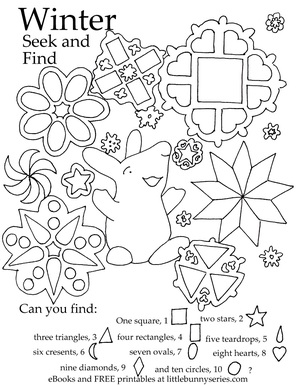winter seek and find pdf - Search And Find Pictures Printable