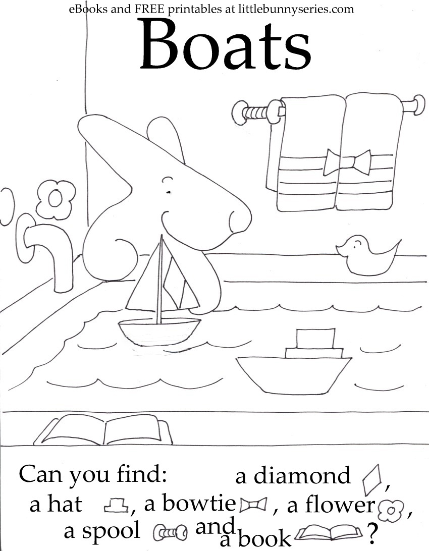 Boats Seek and Find PDF