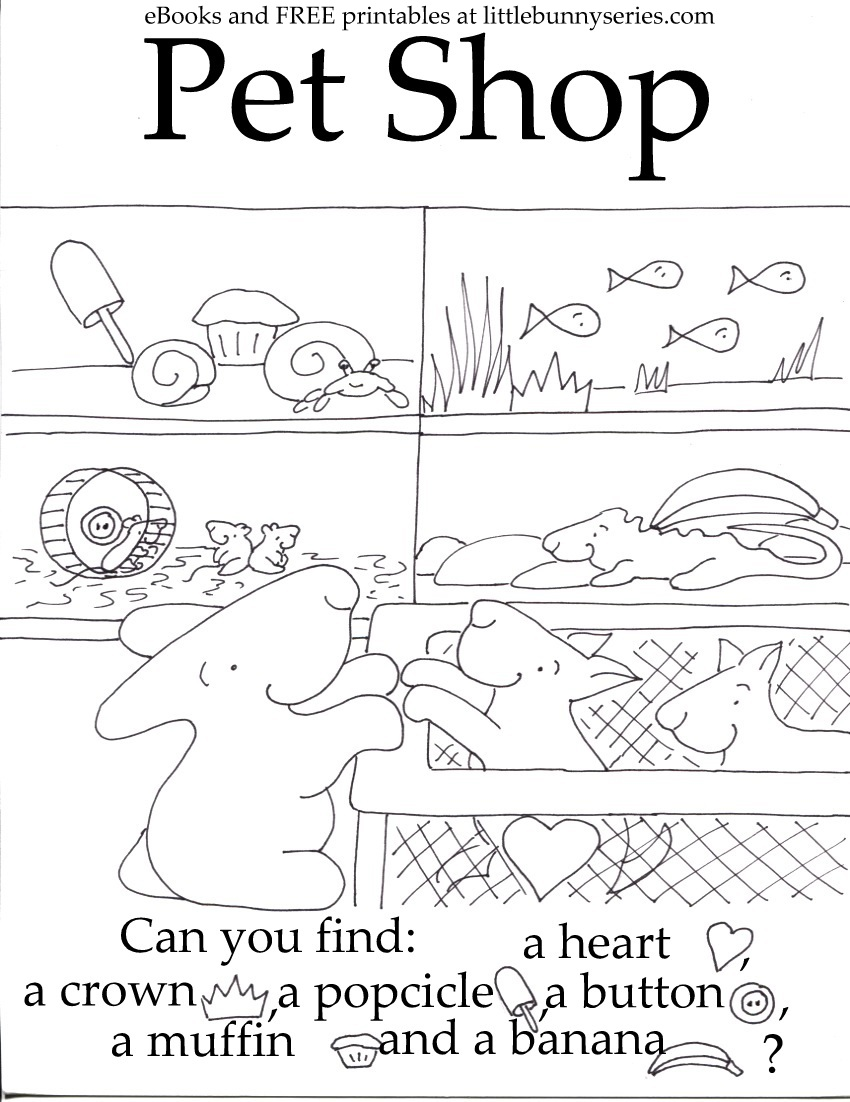 Pet Shop Seek and Find PDF
