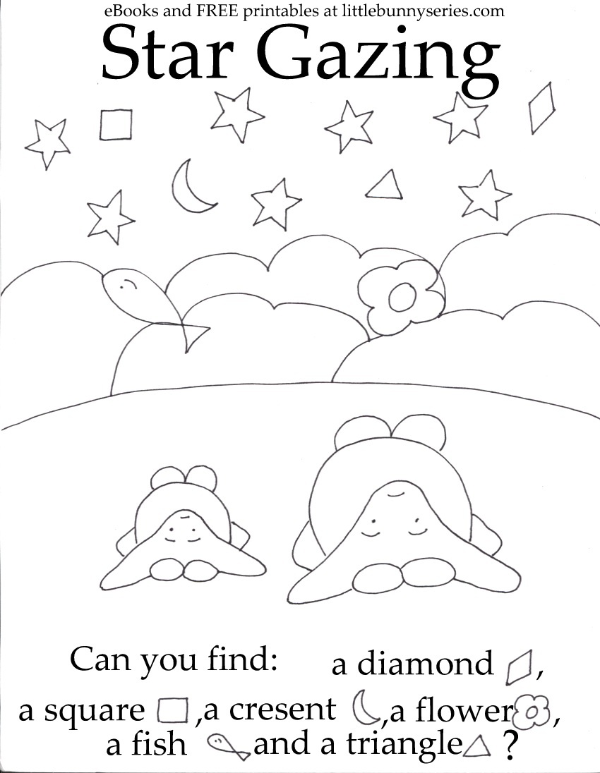 Star Gazing Seek and Find PDF