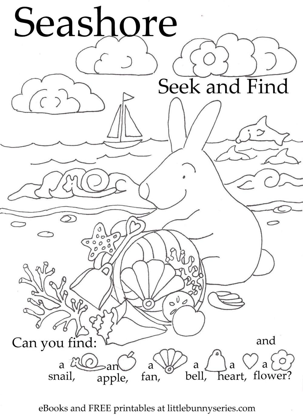 Seashore Seek and Find PDF
