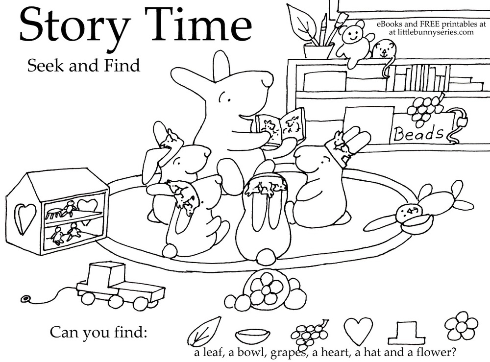 Story Time Seek and Find PDF