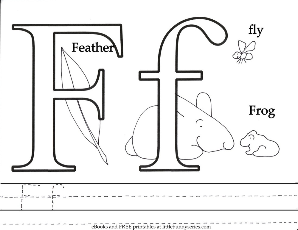 Letter F Coloring Page PDF