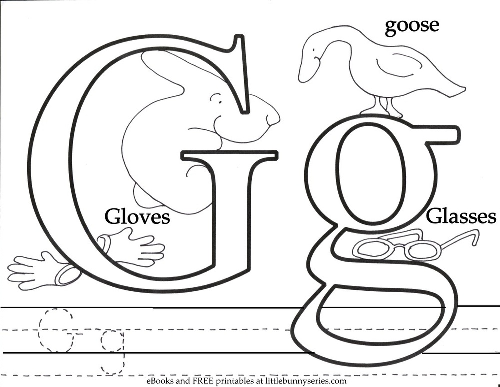 Letter G Coloring Page PDF