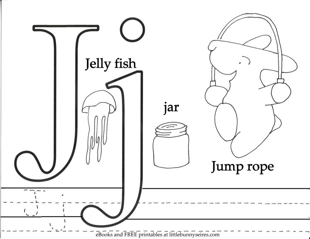 Letter J Coloring Page PDF