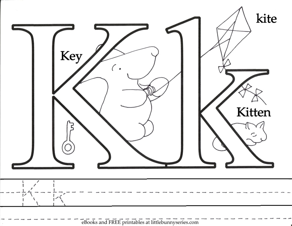 Coloring pages little bunny series for The letter k coloring pages
