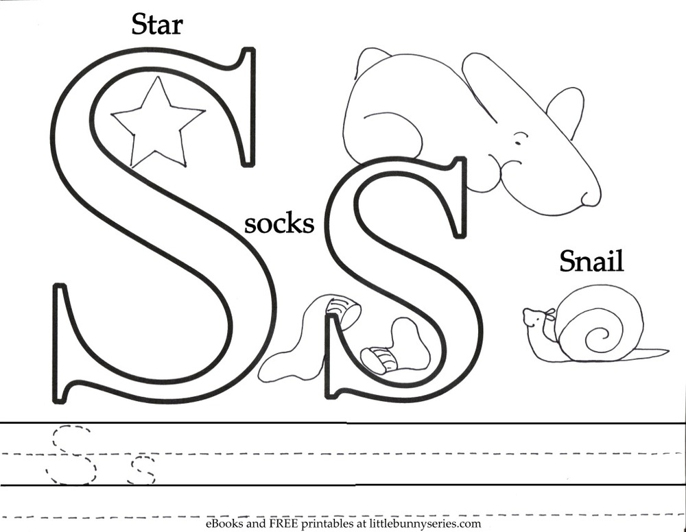 Letter S Coloring Pages : Coloring pages Little Bunny series