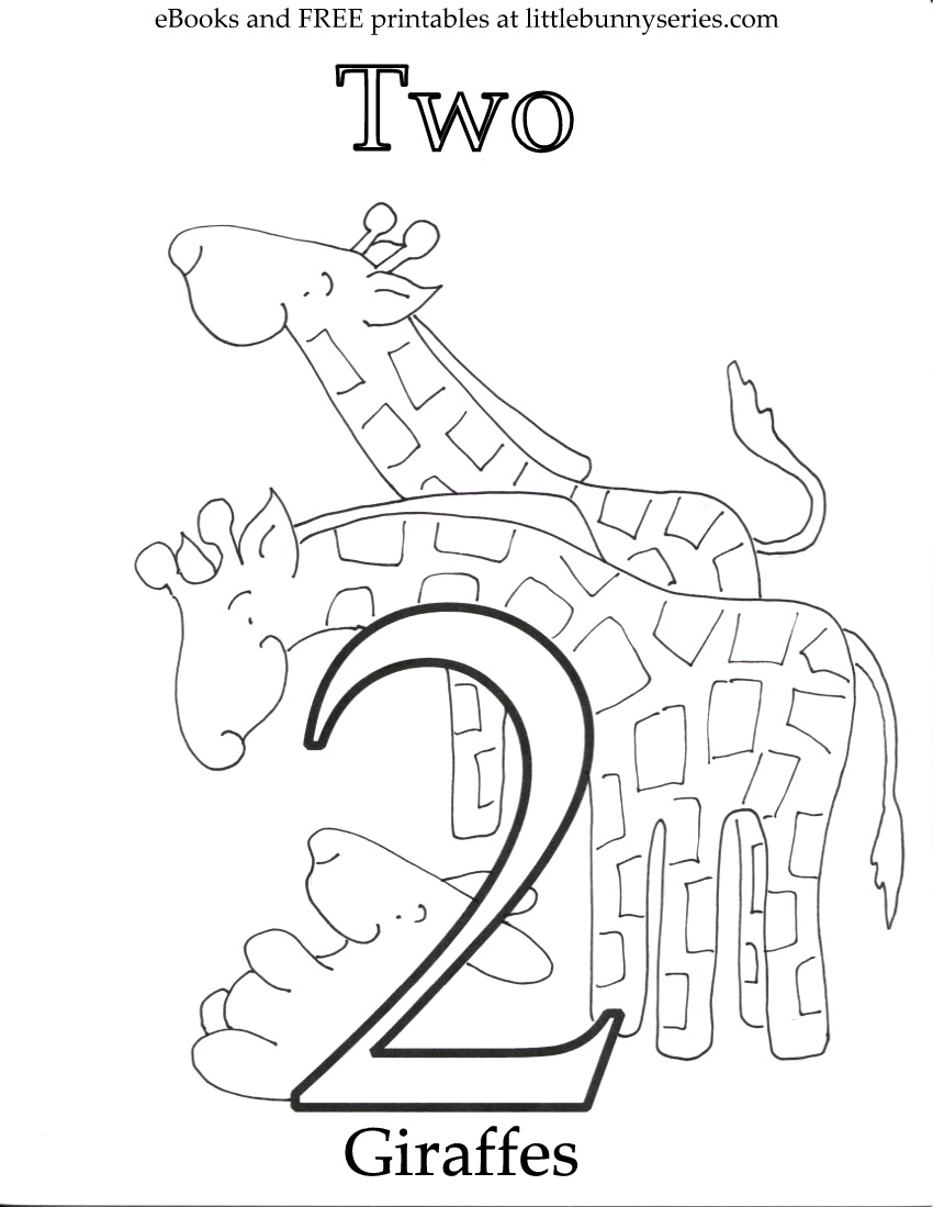 number 2 coloring pages