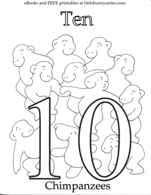 Number 10 Coloring Page PDF