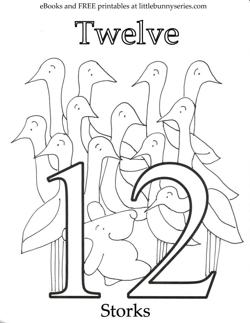Coloring Pages Number 15 Coloring Page number 12 coloring page futpal com pages u2014 little bunny series