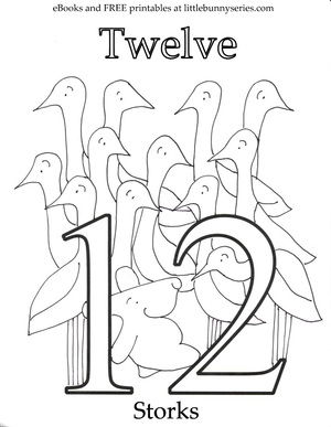 Number 12 Coloring Page PDF