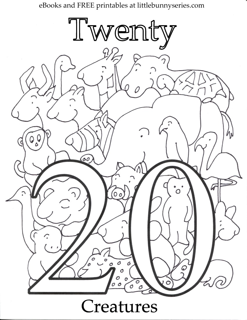 Number 20 Coloring Page PDF