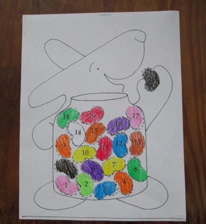 Click on above photo for the Counting Bean Game and Craft PDF