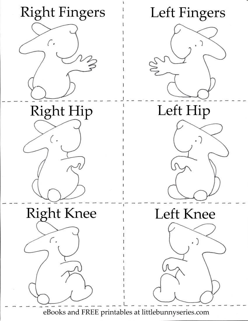 Click on the above image for a PDF of the Left, Right Body Parts, 3 in 1 Printable.