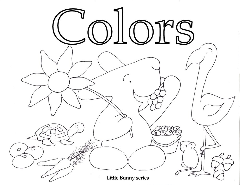Colors Cover Coloring Page PDF