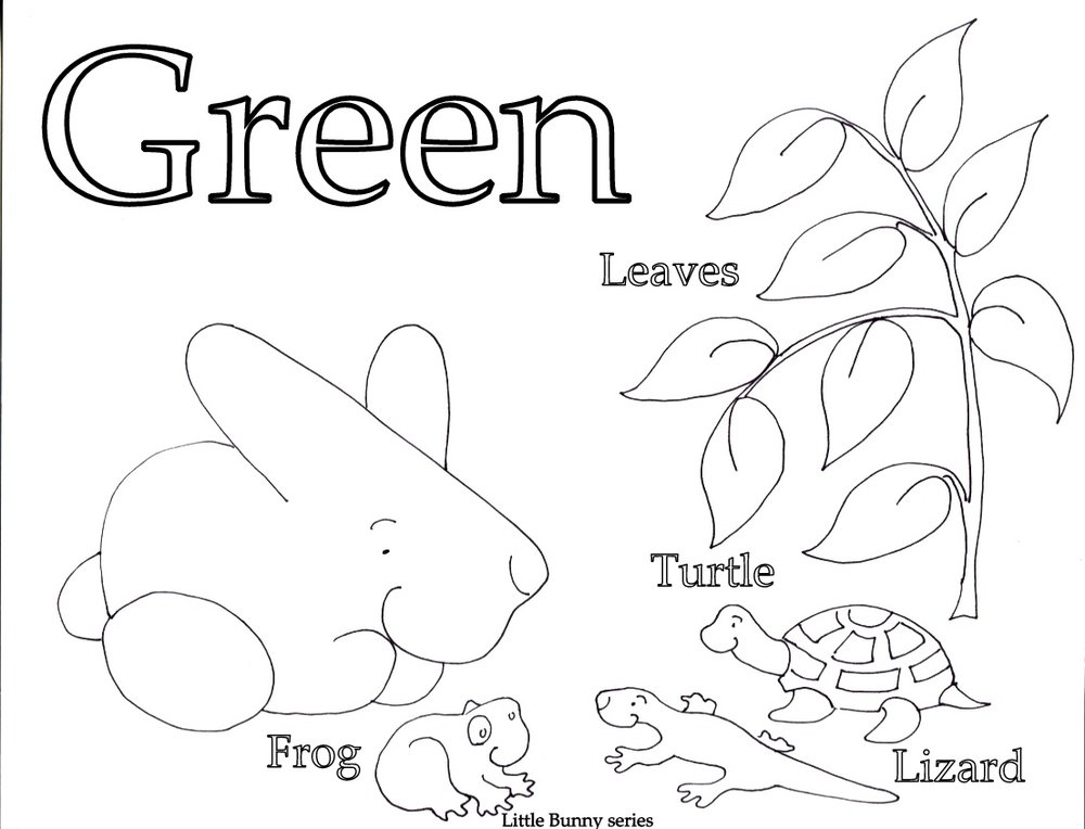 Green Coloring Page PDF