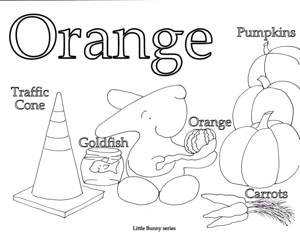 Orange Coloring Page PDF